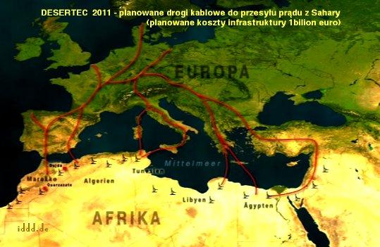 Desertec powoduje przemiany polityczne w Afryce północnej